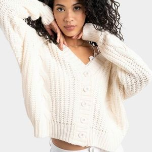 NWT Button Cable Knit Cardigan